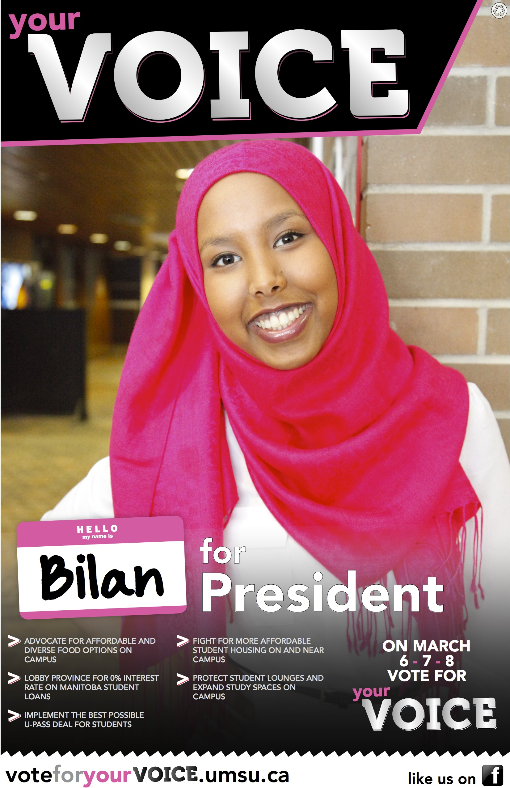 Bilan Arte's March 2012 election campaign poster