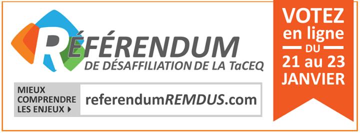 REMDUS - Referendum TaCEQ - janvier 2014